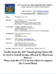annual thanksgiving tournament to be fundraiser for those affected