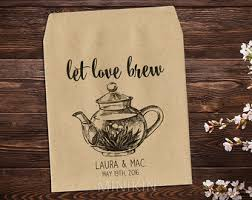 tea bag party favors the blend tea party favor tea packet holder tea bag