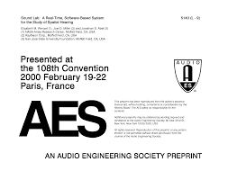 aes e library sound lab a real time software based system for
