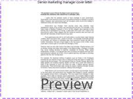 senior marketing manager cover letter custom paper academic