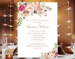 make your own invitations bridal shower invitation template etsy