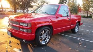 glitter truck 1994 obs red chevy silverado 5 7 v8 sport stepside c k 1500 pickup