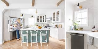 blogger emily henderson u0027s sunny kitchen transformation revealed