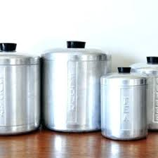 metal kitchen canisters silver canisters kitchen metal kitchen canisters vintage brushed