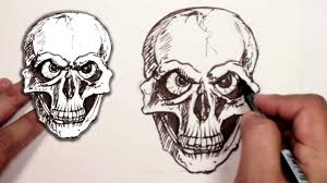 how to draw a skull halloween drawing mat youtube