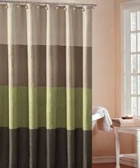 Green And Brown Shower Curtains Zen Floral Green Brown Ivory Quality Luxury Fabric Shower