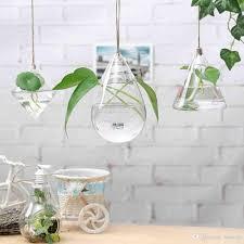 3 pack hanging plant glass vase terrarium planter decoration
