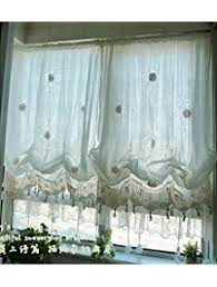 White Balloon Curtains Shop Amazon Com Window Balloon Shades