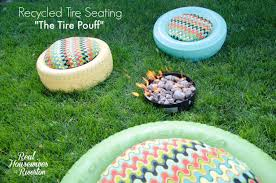 recycled tire seating