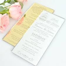 dl size engraved acrylic wedding invitations unique acrylic