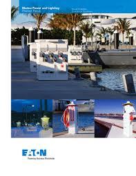 marina power and lighting marina power and lighting equipment eaton pdf catalogues