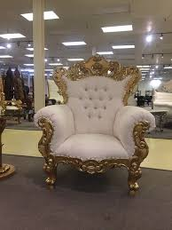 gold white ornate baroque rococo wedding salon boutique king queen