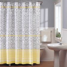 Yellow And Grey Bathroom Decorating Ideas Yellow And Grey Shower Curtain Yellow Shower Curtain With White