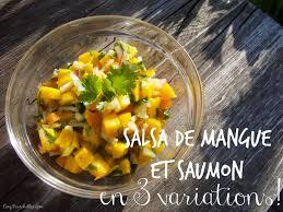 cuisiner la mangue cuisiner en salsa de mangue et saumon en 3 variations cinq