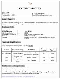 computer science resumes resume format for freshers engineers computer science gentileforda
