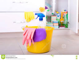 Kitchen Floor Cleaner cleaning tools on kitchen floor stock photo image 81707238