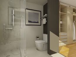 Bathroom Closets Ideas Built In Sleek Wardrobe Completed With - Bathroom with walk in closet designs