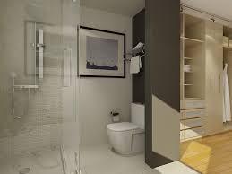 Bathroom Closets Ideas Built In Sleek Wardrobe Completed With - Bathroom closet designs
