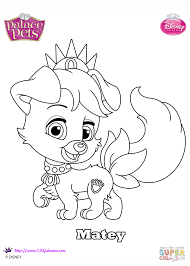 palace pets matey coloring page free printable coloring pages