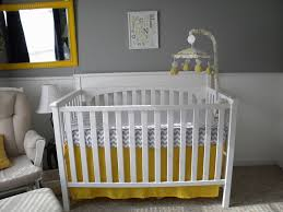 Gray And Yellow Nursery Decor Baby Room Stunning Gray Nursery Ideas With Carpet Flooring