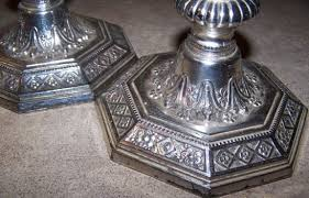 how to repair or paint over damaged silver plating on candle sticks