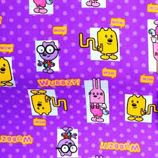 cotton fabric character fabric wow wow wubbzy characters