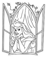 disney princess aurora open window sleeping beauty coloring