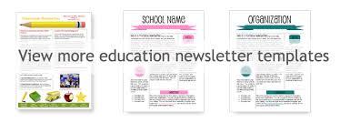 worddraw com free classroom newsletter template