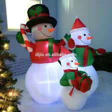 Outdoor Lighted Snowman Decorations by Inflatable Yard Decorations Christmas Inflatable Yard Decorations