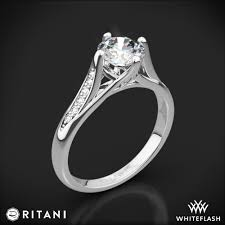 ritani engagement rings ritani modern arched micro pave engagement ring 2120