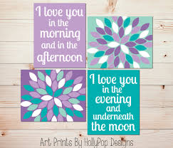 Purple Nursery Wall Decor Nursery Wall Nursery Decor Decor Purple Turquoise