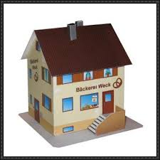 build a house free bakery house free building paper model