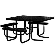 kirby built picnic tables amazon com 46 square thermoplastic coated metal supersaver