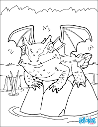 lake dragon coloring pages hellokids com