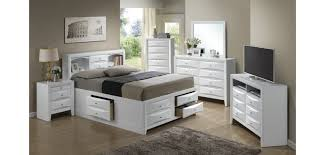 bookcase storage bed white bedroom set g1570g