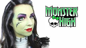 frankie stein monster high makeup tutorial youtube