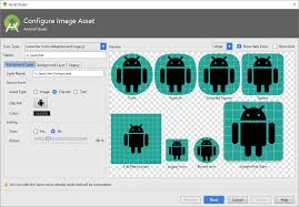 android icon generator using android studio 3 s adaptive icon wizard but getting no icon