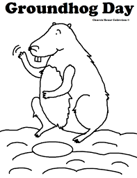groundhog coloring pages print coloring pages