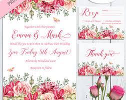 Wedding Stationery Sets Wedding Invitation Kits Etsy Uk