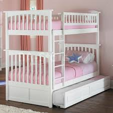white columbia twin over twin bunk bed with raised panel trundle