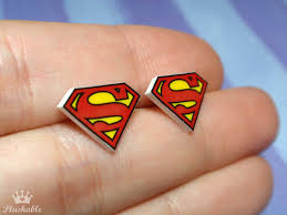 superman earrings superman earrings studs by voodoogrl on deviantart