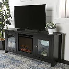 black friday fireplace entertainment center amazon com walker edison w58fp18es fireplace tv stand espresso