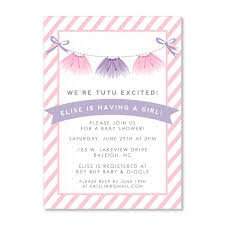 baby shower invitations surprising tutu baby shower invitation