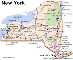 map new york state a map of ny major tourist attractions maps