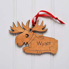 moose wooden ornament graphic spaces