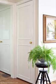 diy molding the painted hive how to add trim to plain doors
