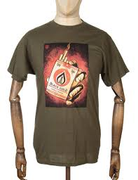 obey clothing obey clothing black gold t shirt olive obey clothing