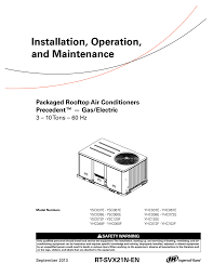 installation operation and maintenance packaged rooftop air