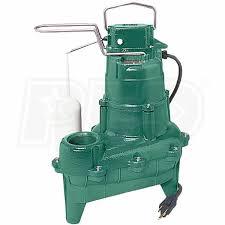 zoeller m264 4 10 hp cast iron sewage pump 2 inch w vertical float