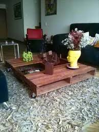 Pallet Coffee Tables Diy Wood Pallets Coffee Table With Caster 99 Pallets